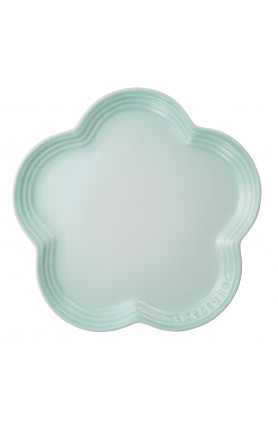 LARGE FLOWER PLATE 23CM - ICE GREEN