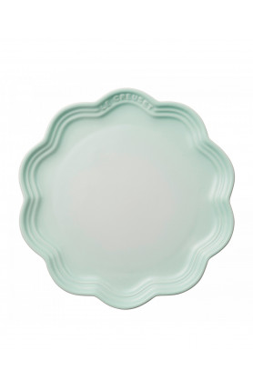FRILL PLATE 22CM - ICE GREEN