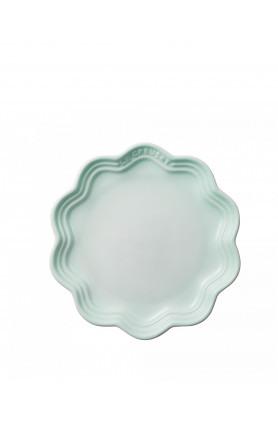 FRILL PLATE 18CM - ICE GREEN