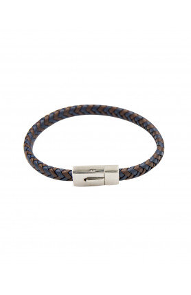 LEATHER SINGLE BRAIDED DETAIL BRACELET