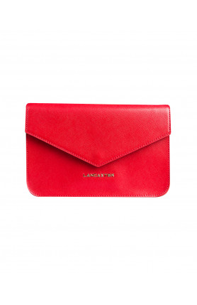 SAFFIANO SIGNATURE CLUTCH WITH FLAP