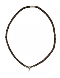 SILVER DETAILED BEAD NECKLACE 21CM