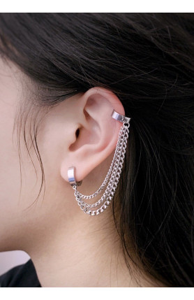 KOREAN STYLE DOUBLE PIERCED EARRING (EACH)