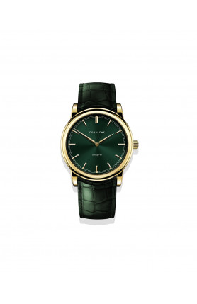 CORNICHE - HERITAGE 40 YELLOW GOLD WITH GREEN DIAL