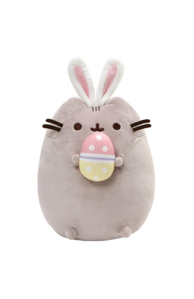 PUSHEEN WITH BUNNY EARS AND EASTER EGG