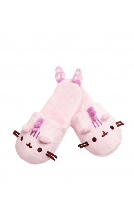 COTTON CANDY PUSHEENOSAURUS PLUSH SLIPPERS