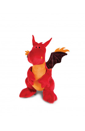 FIRE SITTING RED & BLACK DRAGON