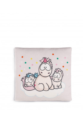 UNICORN BABIES AND THEODOR SQUARE CUSHION