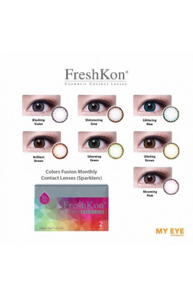 FRESHKON COLORS FUSION MONTHLY CONTACT LENSES - SPARKLE..
