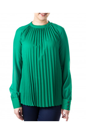 TOP WITH LONG LACE SLEEVES