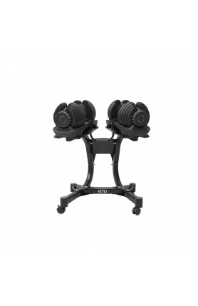 VITO 24KG PRESET DUMBBELL WITH RACK
