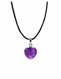 PENDANT - AMETHYST HEART FACETED