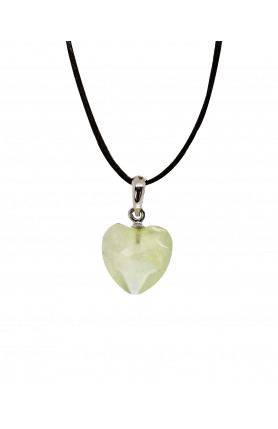 PENDANT - PREHNITE HEARTS FACETED