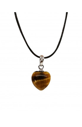 PENDANT - TIGER'S EYE HEART