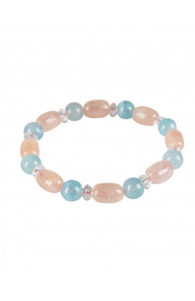 BRACELET - BERYL (MORGANITE AND AQUAMARINE) WITH CLEAR ..