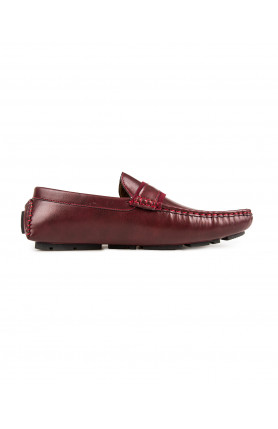 MEN'S MAROON CASUAL MOCCASINS