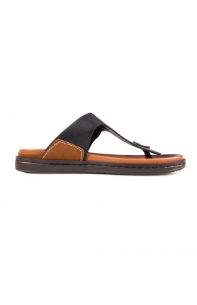 MEN'S NAVY SANDALS WITH BUCKLE DETAIL