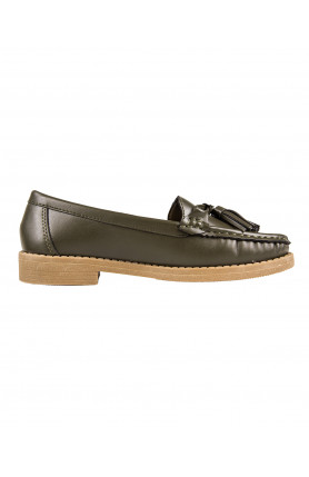 LADIES OLIVE LOAFERS