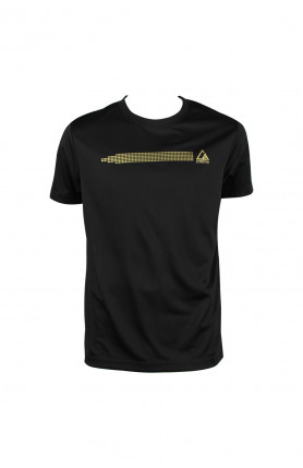 MEN'S ATHLEISURE SHORT SLEEVE T-SHIRT - BLACK