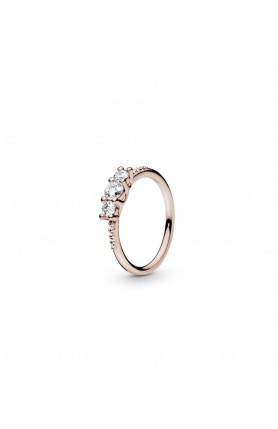 ROSE RING WITH CLEAR CUBIC ZIRCONIA