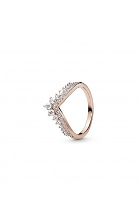 TIARA WISHBONE PANDORA ROSE RING WITH CLEAR CUBIC ZIRCO..