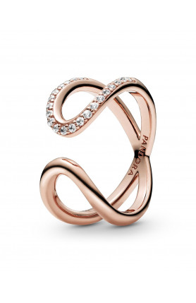 ROSE WRAPPED OPEN INFINITY RING