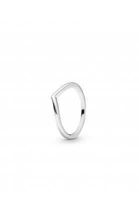 WISHBONE SILVER RING