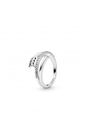 ARROW SILVER RING WITH CLEAR CUBIC ZIRCONIA