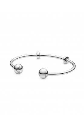MOMENTS OPEN BANGLE WITH SILICONE STOPPERS AND INTERCHA..