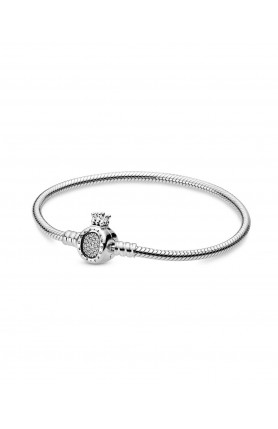 MOMENTS CROWN O CLASP SNAKE CHAIN BRACELET