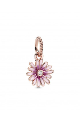 ROSE DAISY DANGLE CHARM WITH CUBIC ZIRCONIA AND SHADED ..