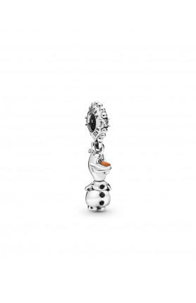DISNEY OLAF STERLING SILVER DANGLE WITH CLEAR CUBIC ZIR..