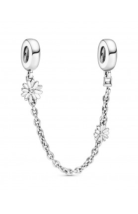 DAISY SAFETY CHAIN WITH CLEAR CUBIC ZIRCONIA