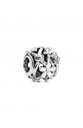 DAISY STERLING SILVER CHARM WITH WHITE ENAMEL