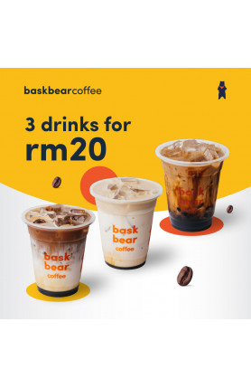 3 DRINKS FOR RM20