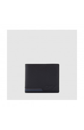 BLACK BIG MONEY WALLET WITH COIN COMPARTMENT