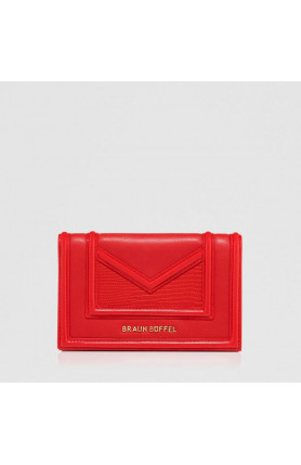 RED CATE 2-FOLD 3/4 WALLET