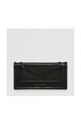 BLACK BLACK CATE 2-FOLD LONG WALLET