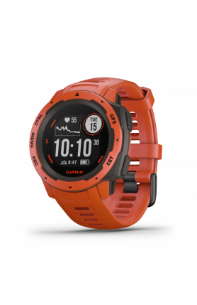 GARMIN Instinct® Flame Red Multi-Sport Smartwatch