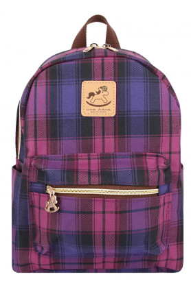 CHECKERED SMALL BACKPACK - VARIOUS COLOURS
