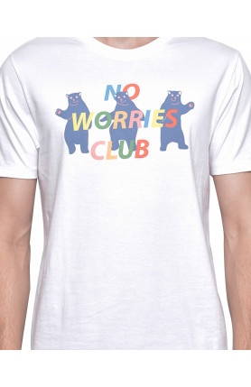 WHITE NO WORRIES CLUB TEE