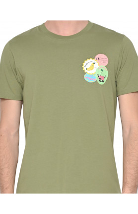 OLIVE FRUIT STAMPS TEE