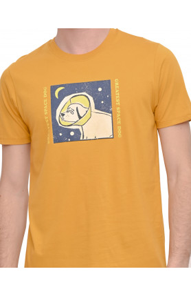 YELLOW SPACE DOG TEE