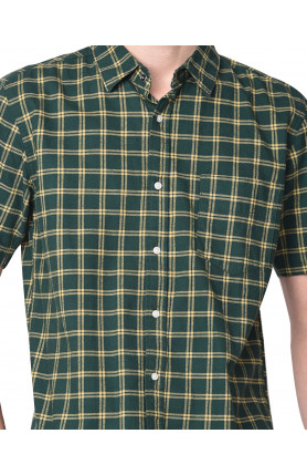 GREEN SHORT SLEEVE JAMIE FLANEL SHIRT