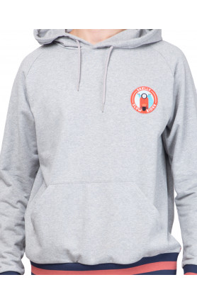 HEATHER GREY SLOW RIDER CLUB HOODIE