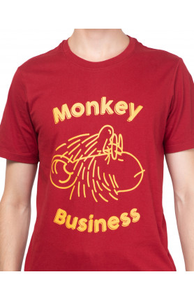 RED MONKEY BUSINESS TEE