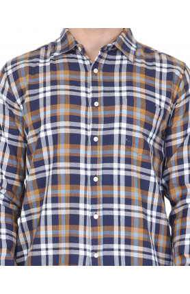 BLUE PLAID LUCAS FLANNEL SHIRT