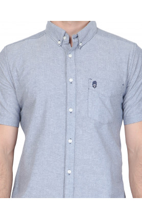LIGHT BLUE SHORT SLEEVE GUARDIAN HIRO OXFORD SHIRT