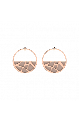 GIRAFE ROSE GOLD 43MM EARRING NUDE & AQUATIC FLUID PERS..