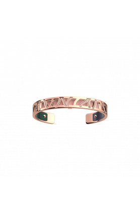 PERROQUET ROSE GOLD 8MM BRACELET WITH PINK & PETROL LEA..